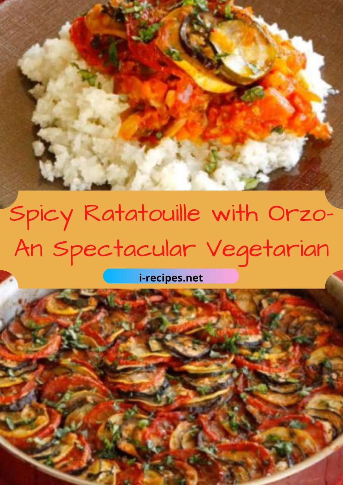 Spicy Ratatouille with Orzo-An Spectacular Vegetarian