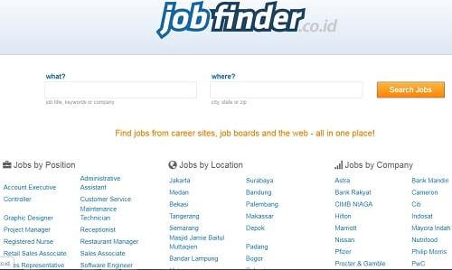 Situs Lowongan Kerja Jobfinder.co.id