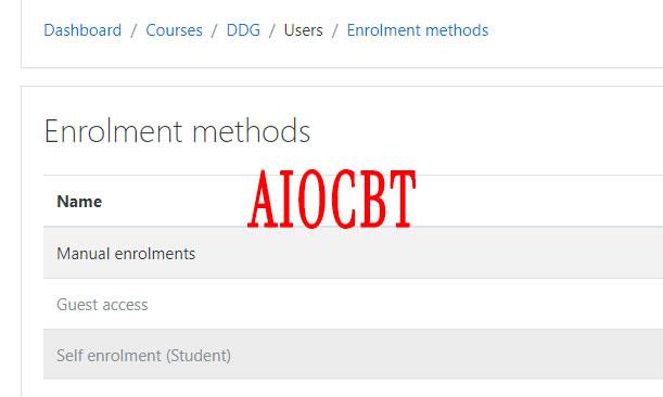 Cara Enrol Manual Peserta Ujian Di AIOCBT