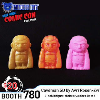 New York Comic Con 2019 Exclusive Caveman SD Soft Vinyl Figures by Avri Rosen-Zvi x Tenacious Toys