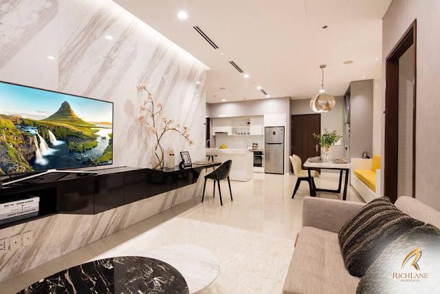 Căn hộ RichLane Residences có thiết kế trang nhã theo kiểu singapore.