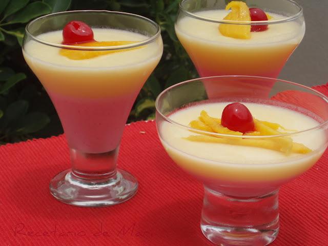 Gelatina de yogur y macedonia de frutas cocina - Postres con gelatina y leche condensada ...