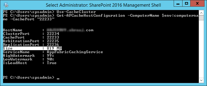 Increase Distributed Cache Memory Size in SharePoint 2013
