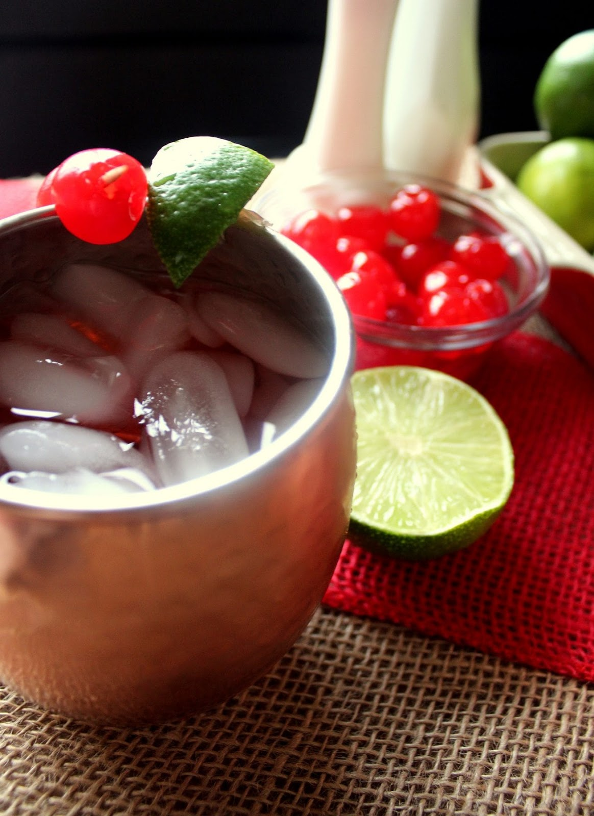 CHERRY LIMEADE MOSCOW MULES #drink #sangria #cocktail #smoothie #recipes