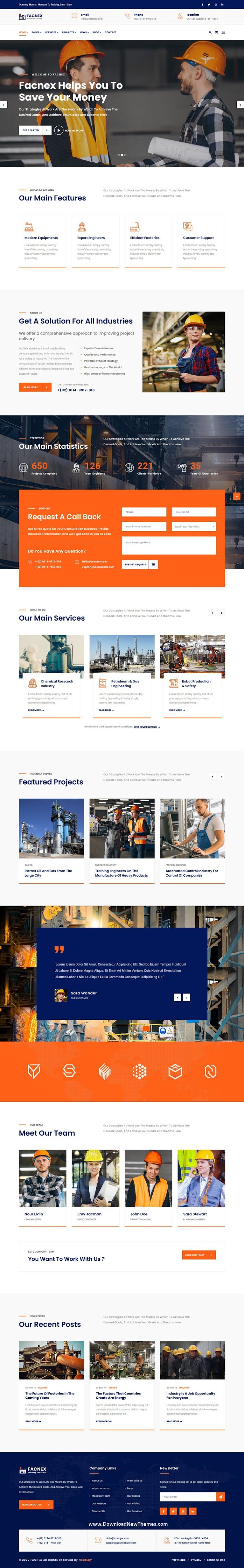 Industry & Factory HTML Template