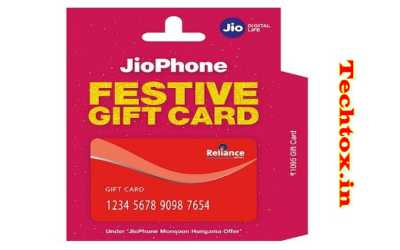Jio Phone Gift Card launches at Rs 1,095