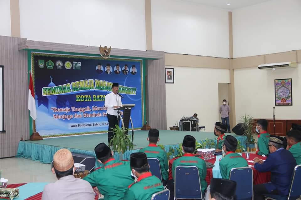 Buka Seminar, Rudi Minta Remaja Masjid Berkolaborasi Dengan Pemerintah