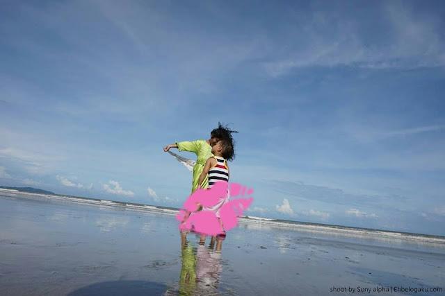 gambar pantai,guna kamera sony untuk gambar cantik
