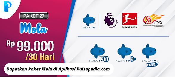 Paket Mola TV Nex Parabola Terbaru