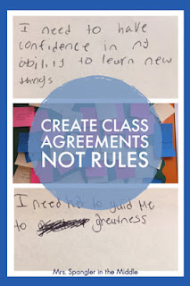 Want better classroom management?  Try creating agreements instead of rules!  #teaching #middleschool #backtoschool