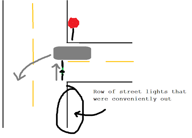 bike hitting car diagram