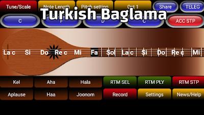 this app has 10 Arabic / Turkish music scales such as : ALSABA - NAHAVAND , ALRAST , ALNAVA ASAR - HOZAM - HEJAZ - HEJAZ KAR and etc