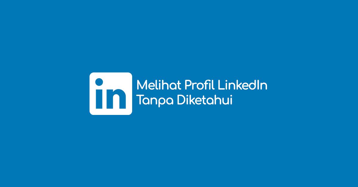 Cara menyembunyikan kunjungan profil LinkedIn