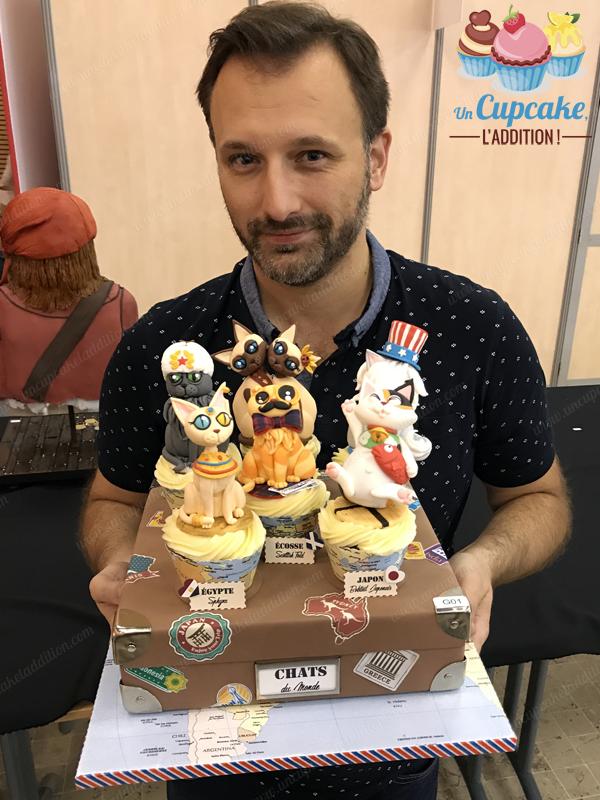 """Show Cake 2017 : les Cupcakes """"Chats du Monde"""" de Sébastien !"""