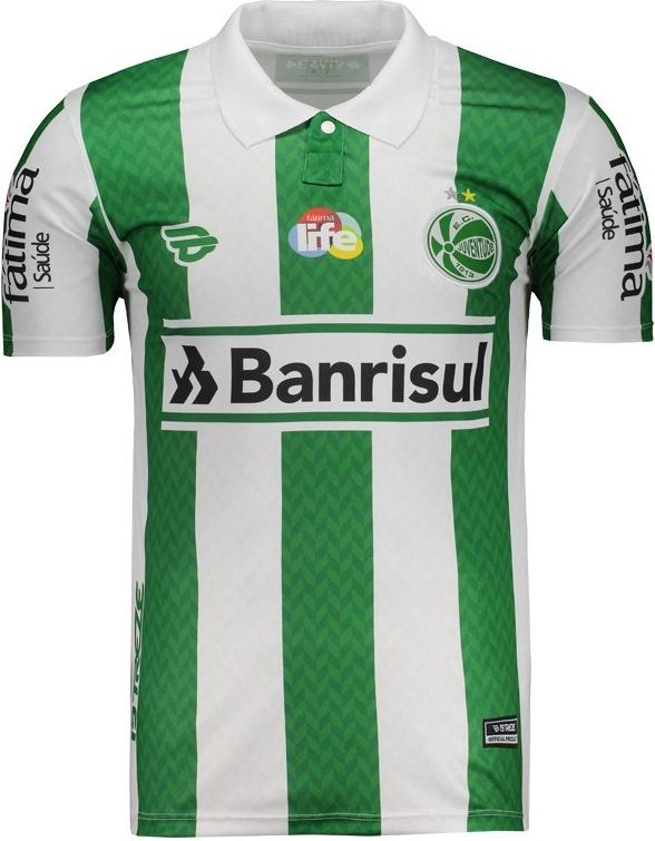 A camisa reserva é predominantemente verde com finas listras verticais em  tom mais claro 1e3131c16a314