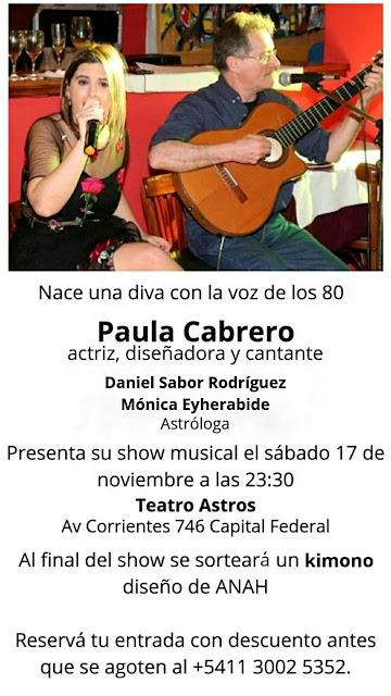 Ana Paula Cabrero: la artista que le canta a los 80´s se presenta en el Teatro Astros