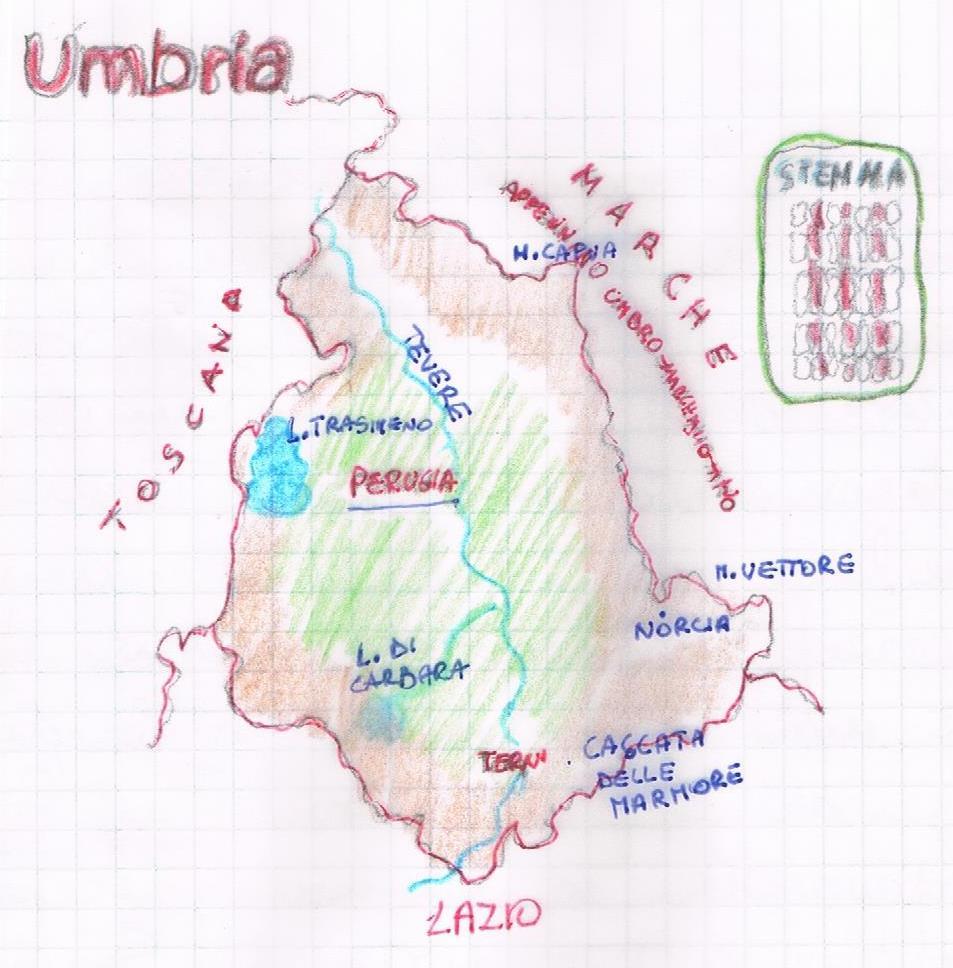 Cartina Fisica Umbria Da Stampare.L Umbria Geografia Politica