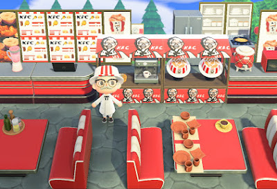 Catch the Colonel at the KFC Island on Animal Crossing and you just might get real KFC bucket for free!
