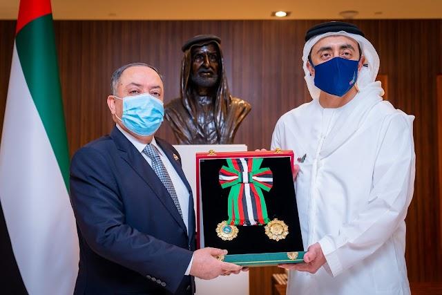 UAE President confers Medal of Independence on Jordan Ambassador