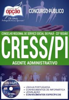 Apostila impressa CRESS Piauí Agente Administrativo 2017