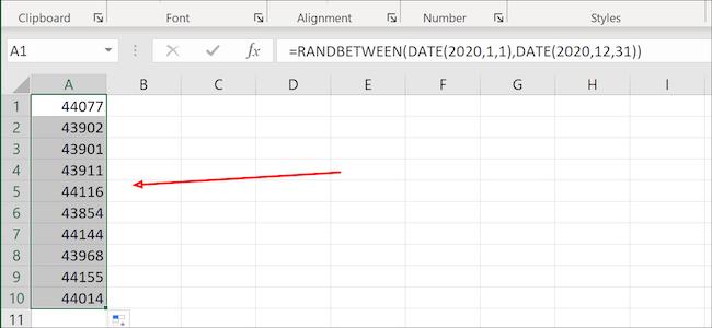 تسليط الضوء على العمود في Excel