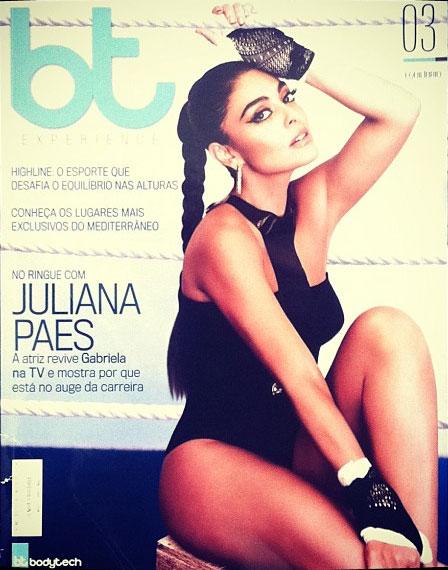 06808f4bf8e68 Toda glamourosa, Juliana Paes ilustra a capa da revista