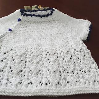maglietta neonata in cotone fatta a mano