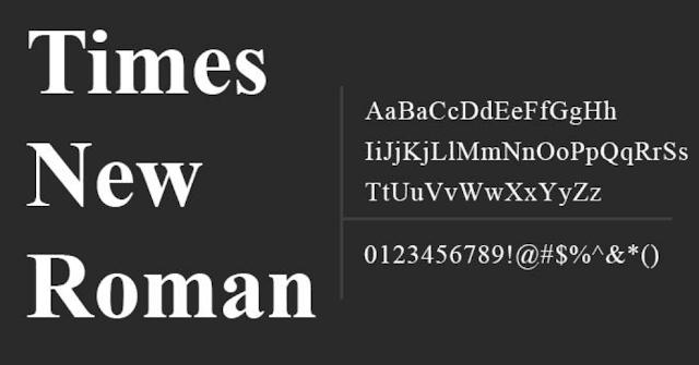 [Download] Times New Roman Font