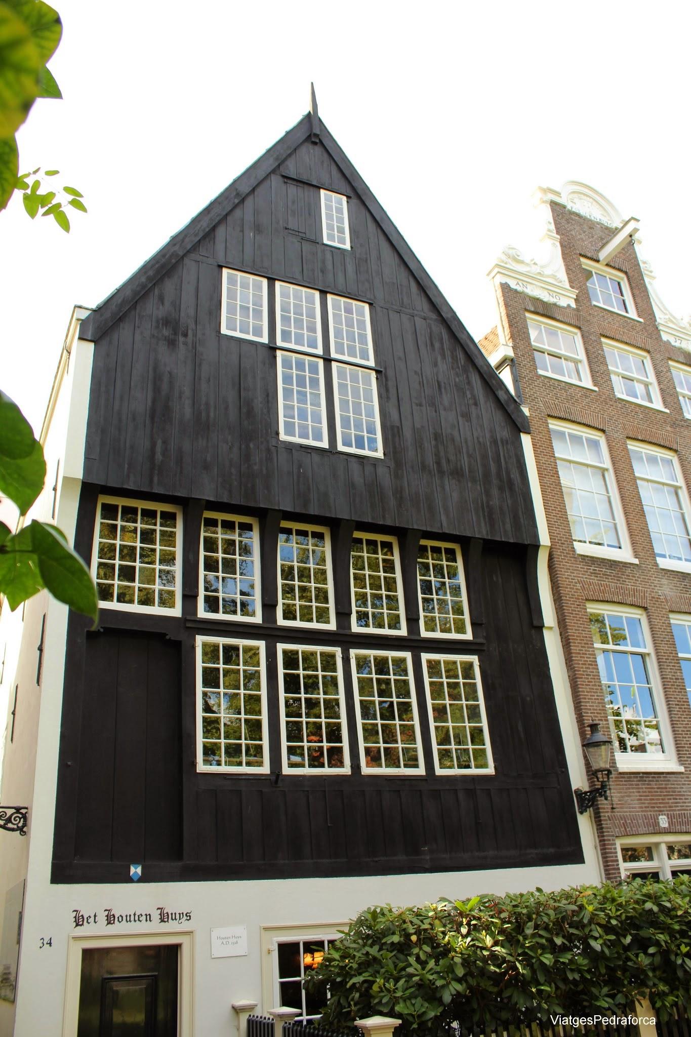 Begijnhof d'Amsterdam casa de fusta S XVI Holanda Països Baixos