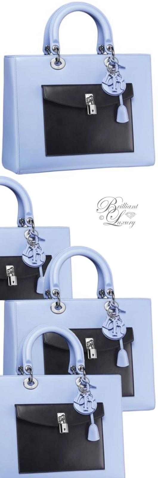 Brilliant Luxury ♦ Dior Lady Dior 'Bleu Jeans Lambskin' Bag