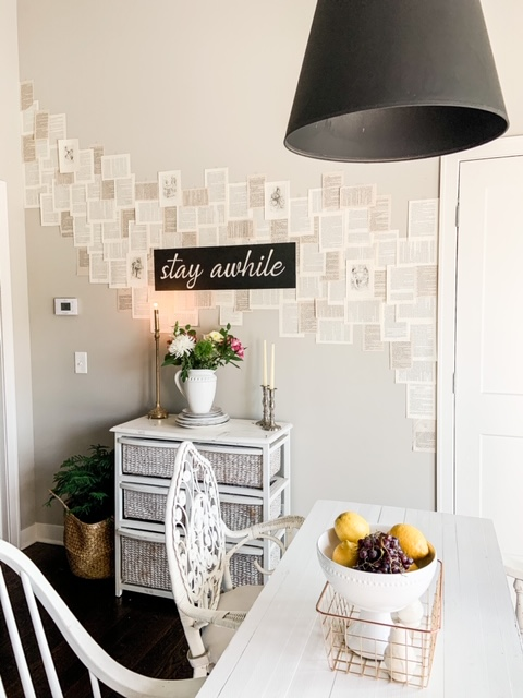 black and white eclectic vintage home decor