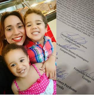 Rafelina Bisonó anunció su separación del padre de sus hijos