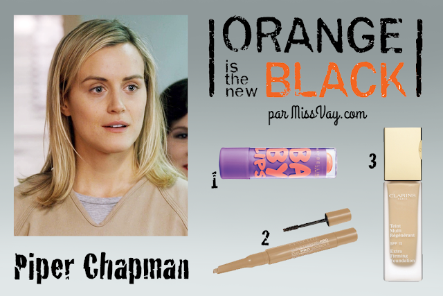 Inspiration maquillage : Orange is the New Black Piper Chapman