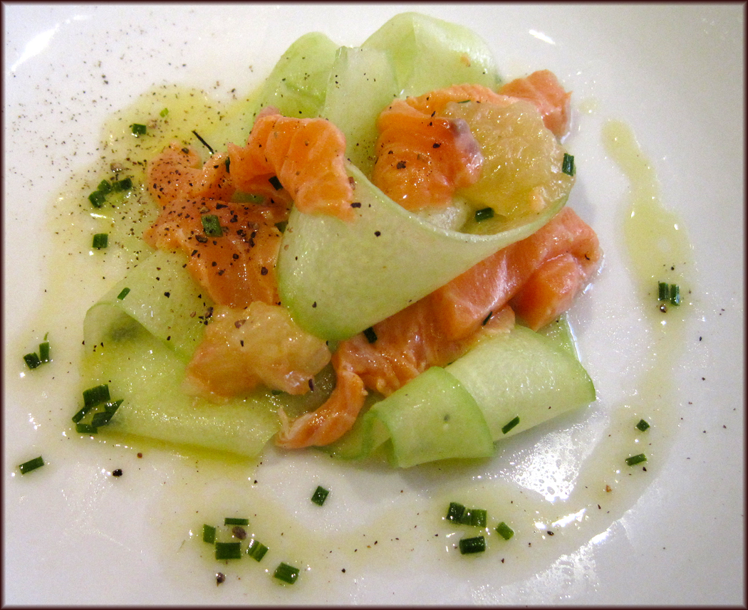 Salmon Ceviche with a Florida Grapefruit Dressing
