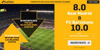 betfair supercuota clasico liga Real Madrid vs Barcelona 2 marzo 2019