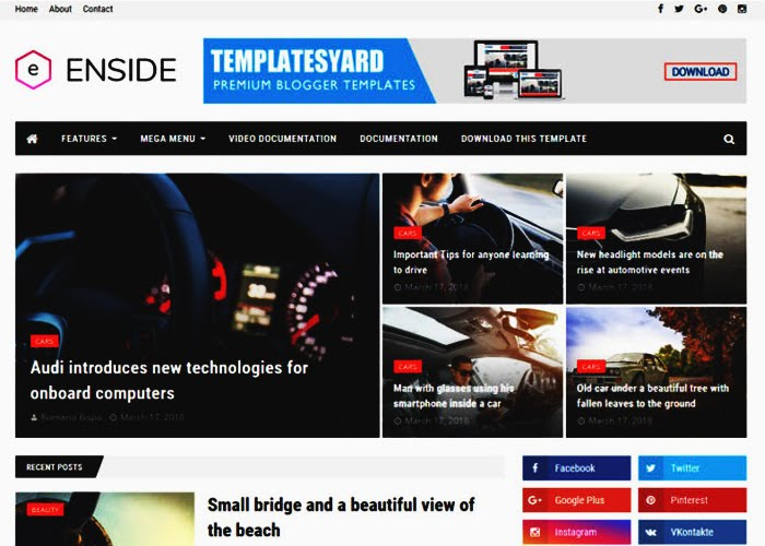 Inside Blogger Template Free Download for your blog