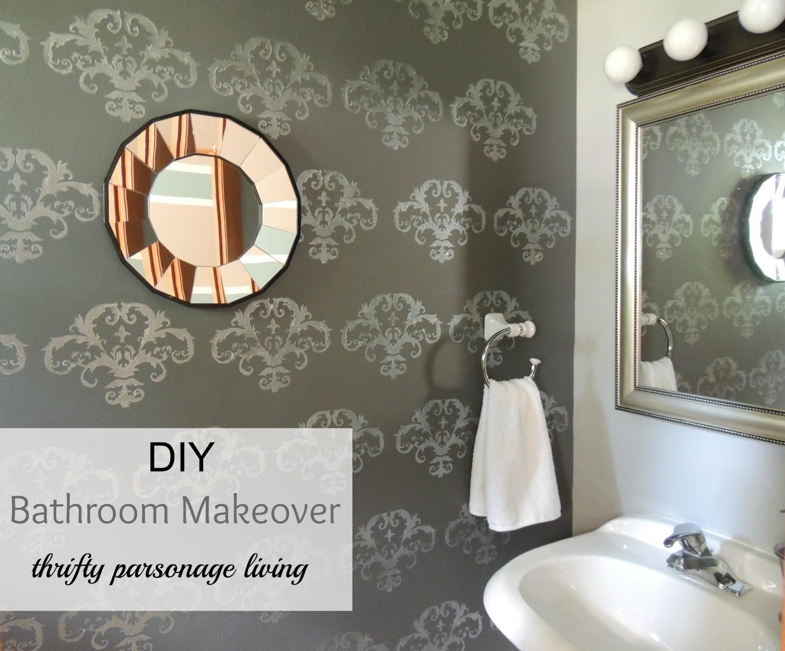 Thrifty Parsonage Living: DIY BATHROOM MAKEOVER