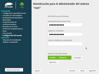 Configurar password root opensuse Cosvernauta