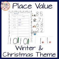 Place Value Winter and Christmas