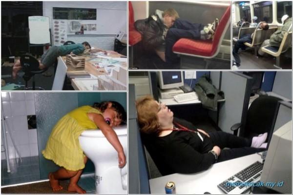 62 Gambar Lucu Orang Sedang Tidur