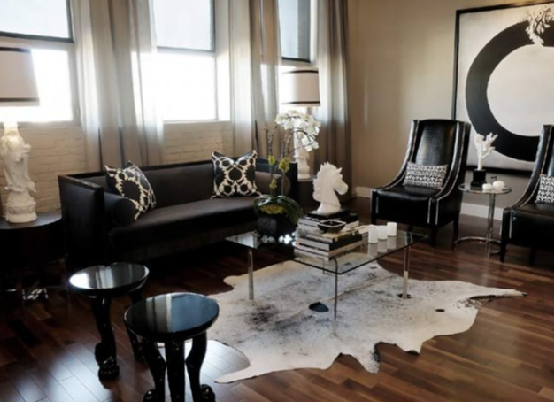 Dark hardwood floors living room home decorating ideas for Living room ideas with dark hardwood floors