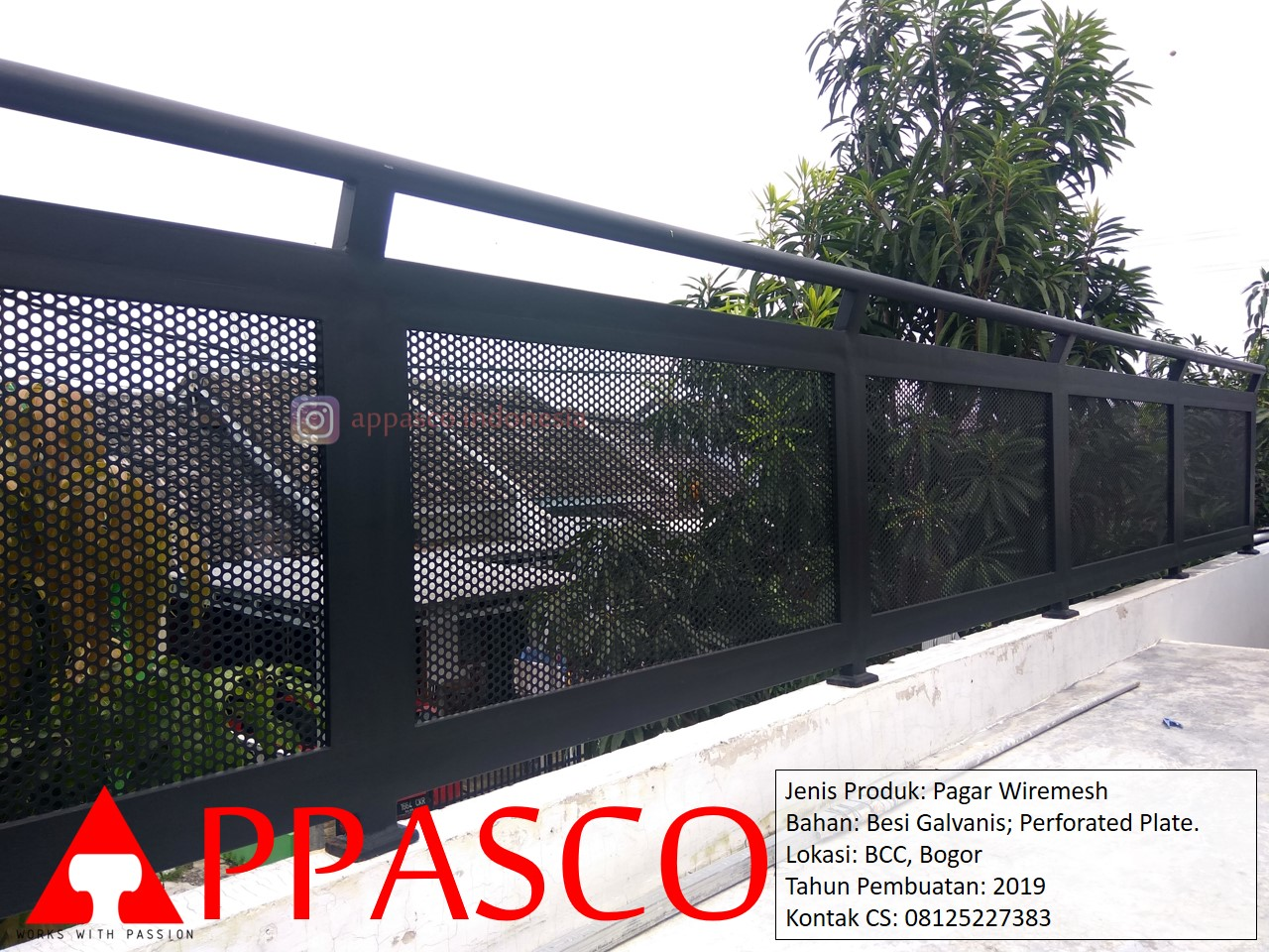 Pagar Wiremesh Galvanis Di BCC Bogor – Pagar Minimalis | APPASCO INDONESIA
