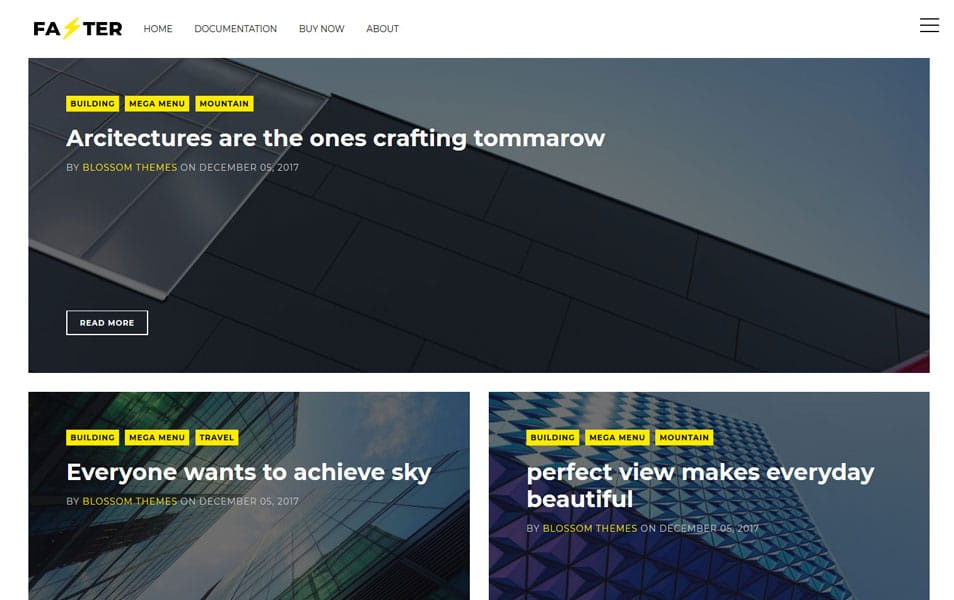 Faster Responsive Blogger Template