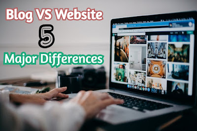 5 major differences between website and blog