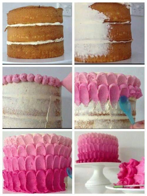 декор из крема, декор кремовый, декор тортов, крем масляный, лепестки кремовые, мастер-класс, покрытие торта кремом, советы, торты, украшение тортов, http://prazdnichnymir.ru/http://eda.parafraz.space/, Кремовые лепестки — простое украшение для торта, простое украшение для торта,