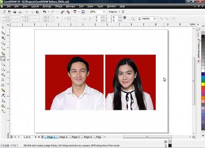 ara Membuat Pas Foto Ukuran 2x3, 3x4 Dengan Coreldraw