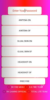 Cheat FF Mod Menu Gfx Tool Headshot Antena Unlock Skin Work Rank