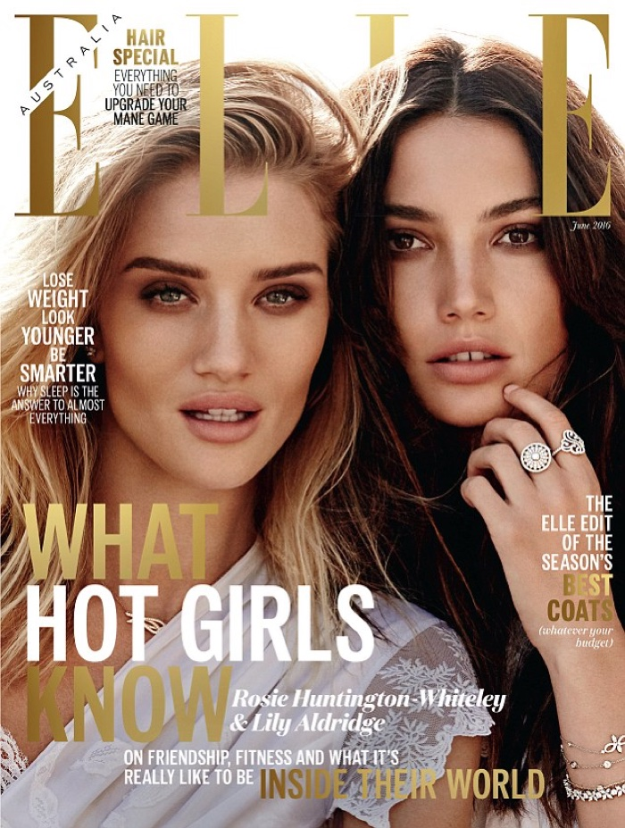 Rosie Huntington Whiteley & Lily Aldridge pair up for Elle Australia's ethereal story