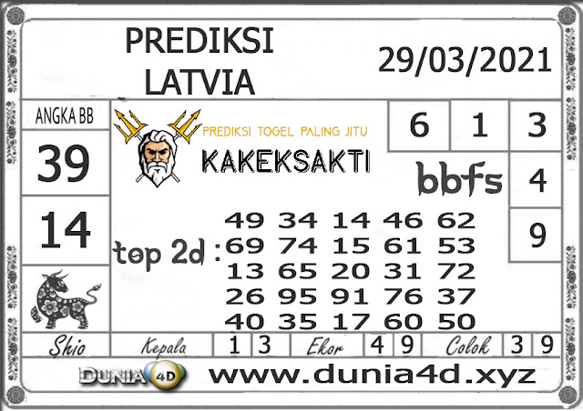 Prediksi Togel LATVIA DUNIA4D 29 MARET 2021