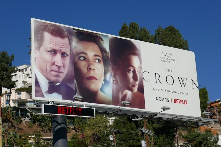 The Crown season 4 billboard